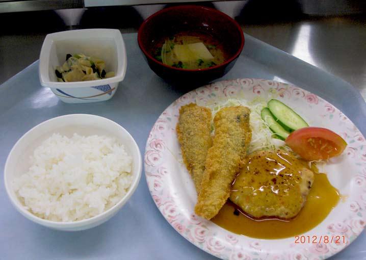 京都府漁連の鰯フライと京白丹波大豆湯葉の煮浸し