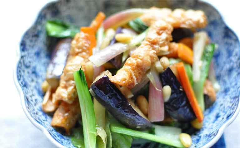 精進料理と腐皮(とゆゆばの中華風炒め物レシピ)