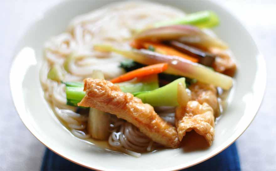 中華風そうめん(とゆゆばの米麺ミーメン)レシピ