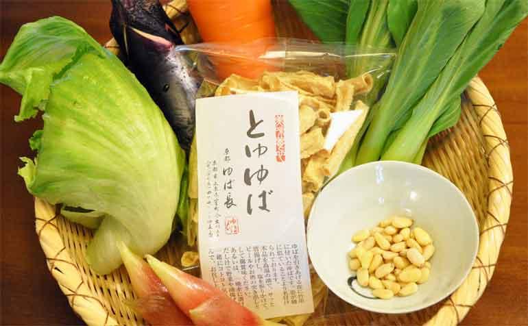 とゆゆばの中華風炒め物(plus中華風そうめん)レシピ材料