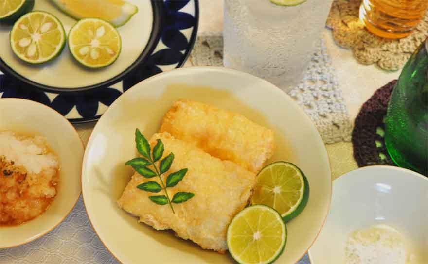 おろしポン酢(東寺ゆばの素揚げレシピ)